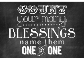 Tel uw zegeningen
